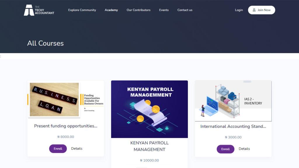 Techy Accountant Online Learning portal